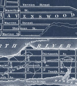 Close up of the blue version 1862 Johnson's New York