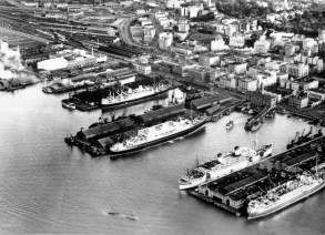 Aerial view of Auckland Waterfront