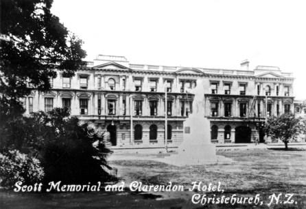 Scott Memorial and Clarendon Hotel