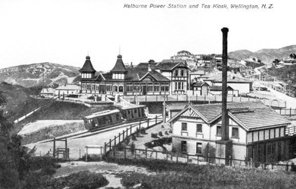 Kelburn Kiosk, Cable Car and Power Station 1904