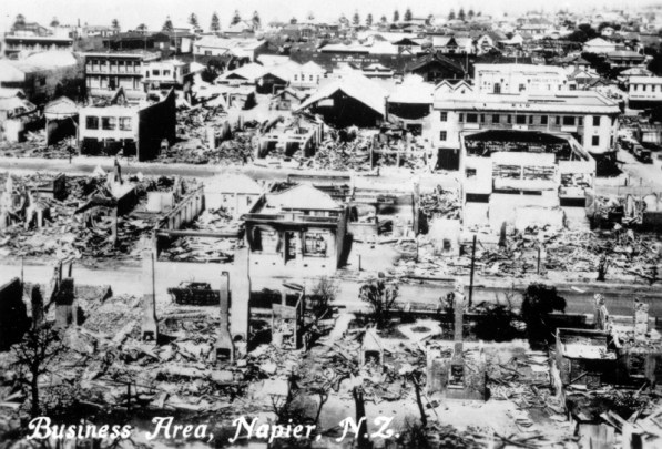 Business area after earthquake, 1931