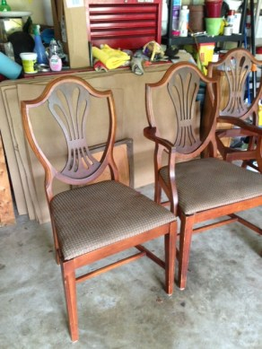 before chairs