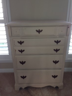 Sanded and reloved chest of drawers