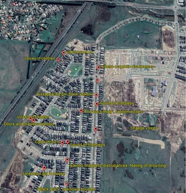 Location of disturbances in Wallara Waters