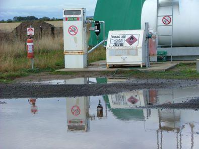 Wallan Airfield aviation fuel bowser
