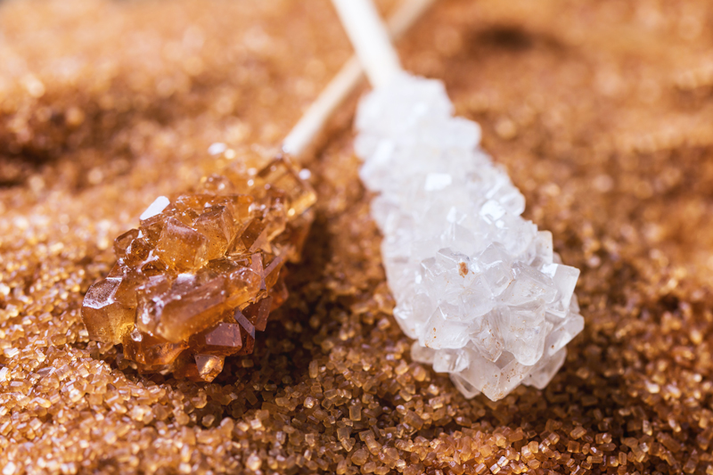 brown & white sugar crystals