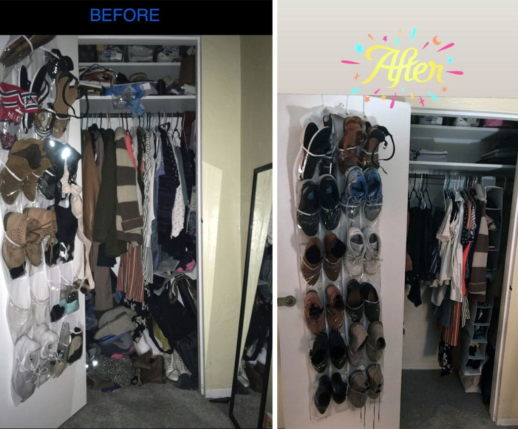 before after closet
