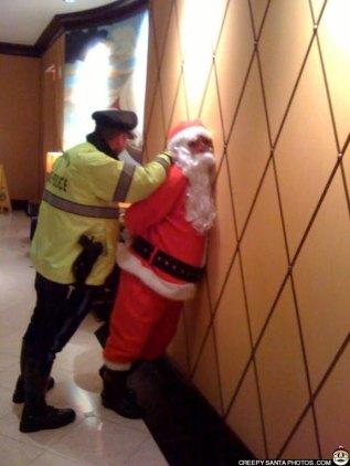 Santa under arrest