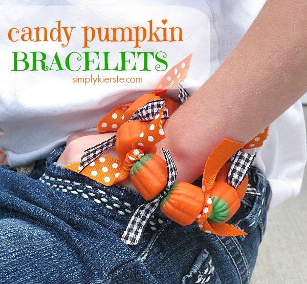 candy pumpkin bracelet    oldsaltfarm.com