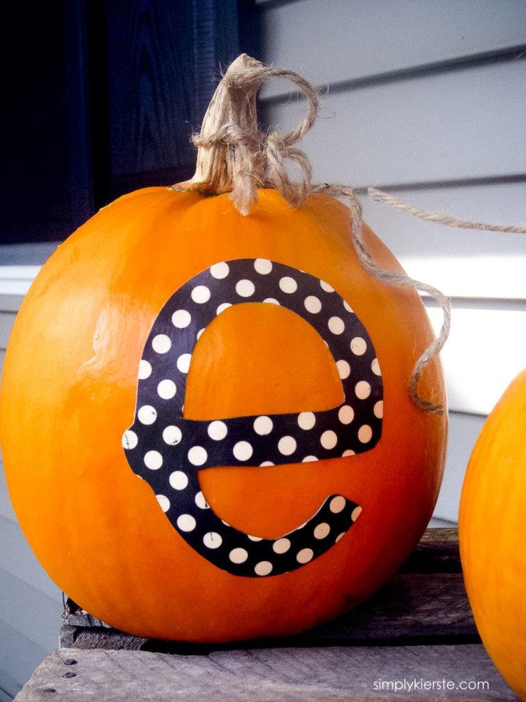 Easy Monogrammed Pumpkins | oldsaltfarm.com