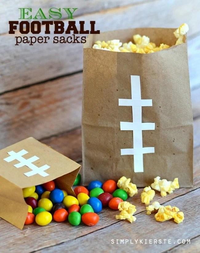 Football Paper Sacks | oldsaltfarm.com