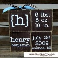Personalized Baby Blocks | oldsaltfarm.com