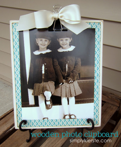 wooden photo clipboard | oldsaltfarm.com