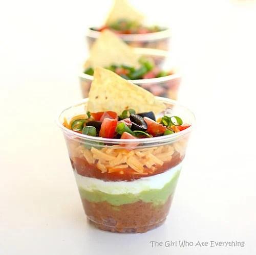 mini seven layer dip | oldsaltfarm.com