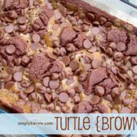 Turtle Brownies | oldsaltfarm.com
