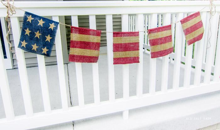DIY Burlap Flag Banner