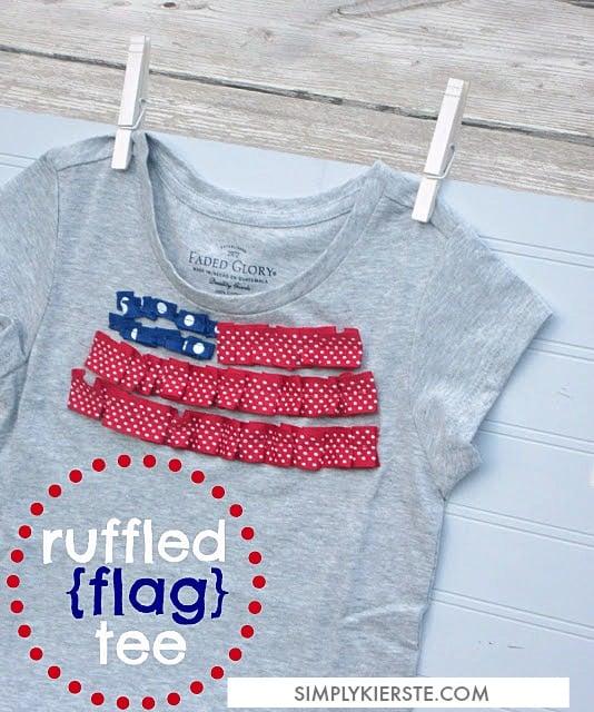 Ruffled Flag Tee |  oldsaltfarm.com