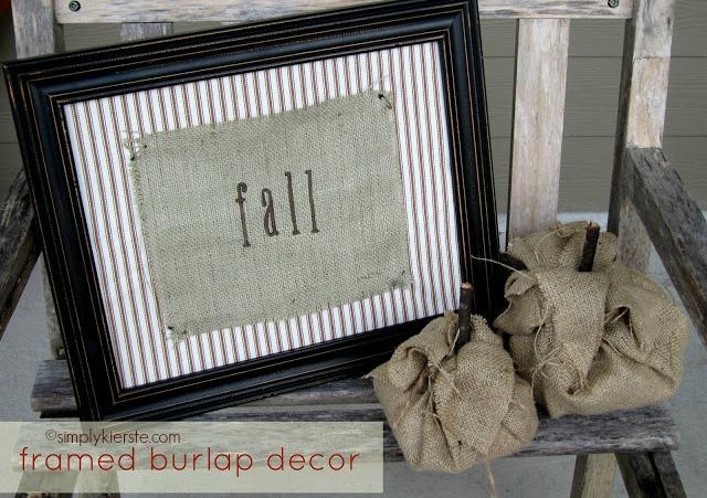 framed burlap title