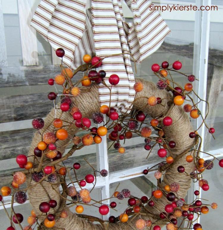 Twine & Berry Fall Wreath | oldsaltfarm.com