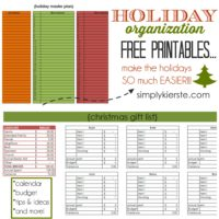 Holiday Organization Free Printables | oldsaltfarm.com