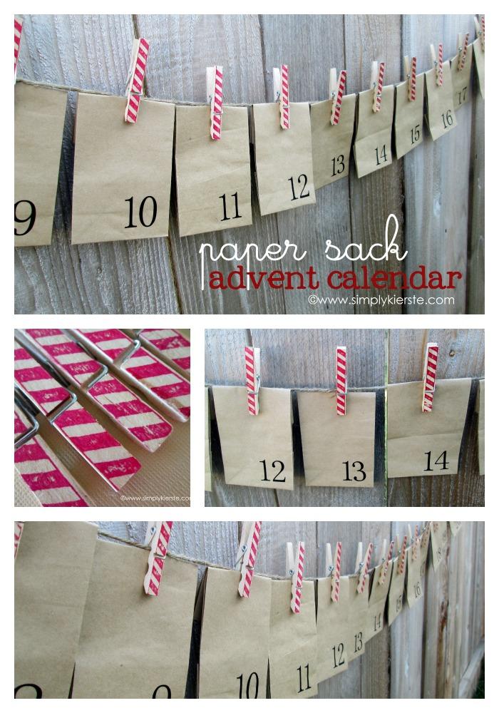 Paper Sack Advent Calendar | oldsaltfarm.com