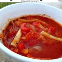 Crockpot Pizza Soup | oldsaltfarm.com