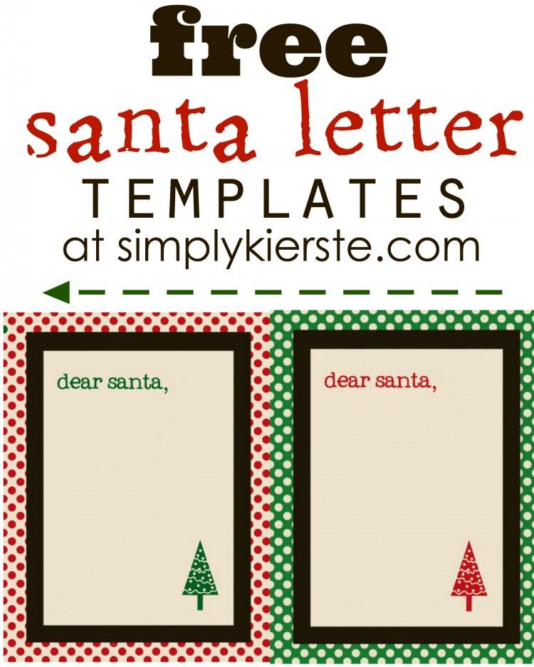 Free Santa Letter Templates | oldsaltfarm.com