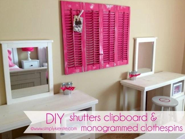 DIY shutters clipboard