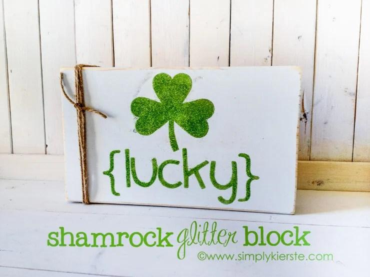 Glitter Shamrock Sign | oldsaltfarm.com