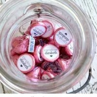 Personalized Hershey Kisses | oldsaltfarm.com
