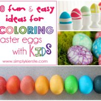 10 Fun & Easy Ideas for Decorating Easter Eggs with Kids | oldsaltfarm.com