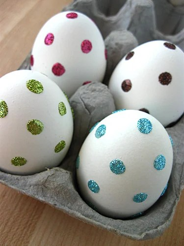 Sparkle Eggs | Easter Egg Ideas for Kids | oldsaltfarm.com