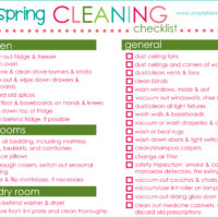 Spring Cleaning List & Printable | simply kierste.com