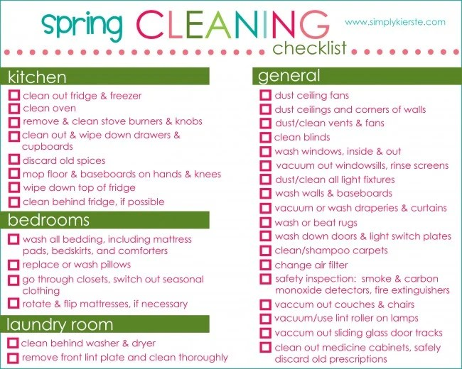 Spring Cleaning Checklist & Free Printable | oldsaltfarm.com