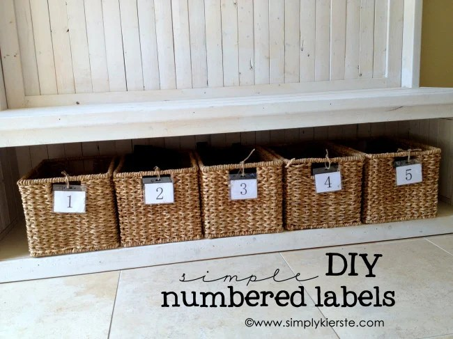 DIY Numbered Labels | oldsaltfarm.com