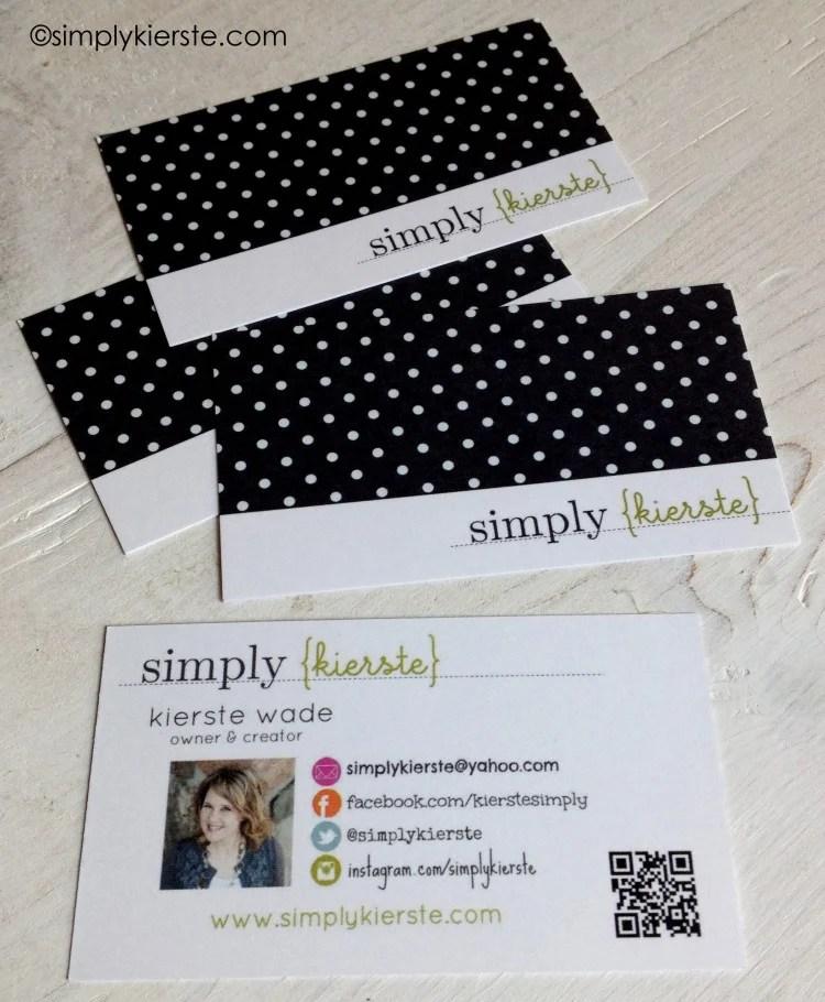 diy business cards | oldsaltfarm.com