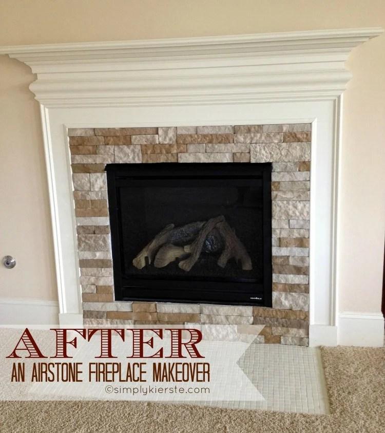 fireplace airstone makeover | oldsaltfarm.com