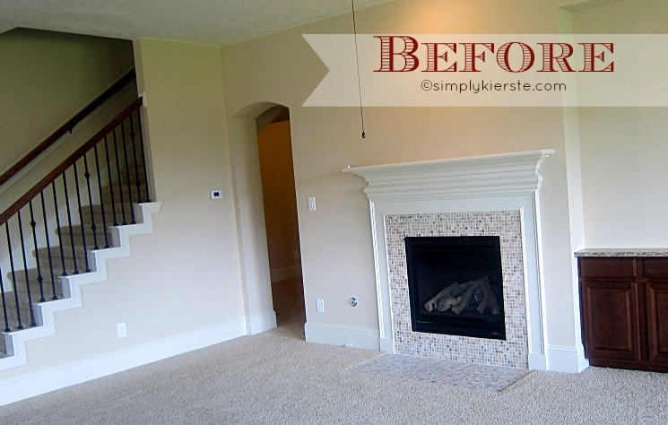 Fireplace makeover | airstone | oldsaltfarm.com