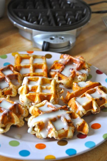 pinterest love   cinnamon roll waffles   oldsaltfarm.com