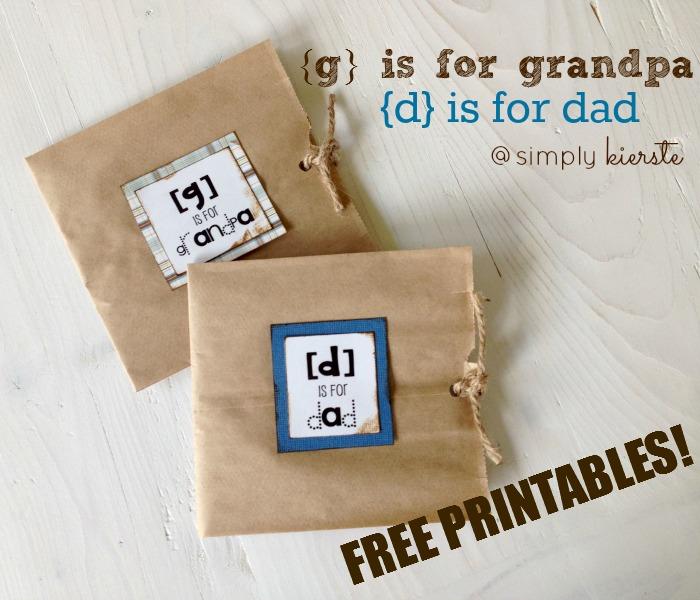 d is for dad paper sack cards | oldsaltfarm.com