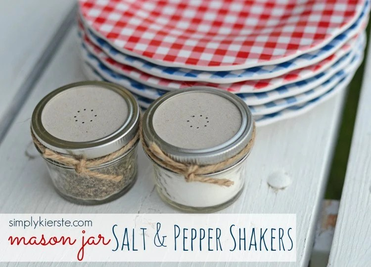 mason jar salt & pepper shakers | oldsaltfarm.com