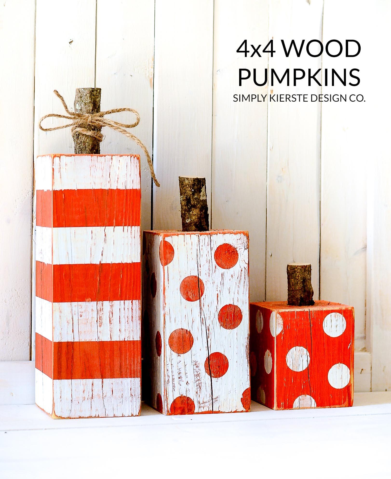 4x4 Wood Pumpkins | oldsaltfarm.com