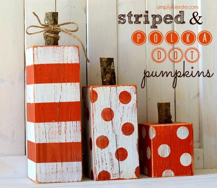 4x4 striped & polka dot pumpkins | oldsaltfarm.com