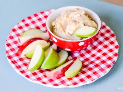 Toffee Cream Cheese Apple Dip