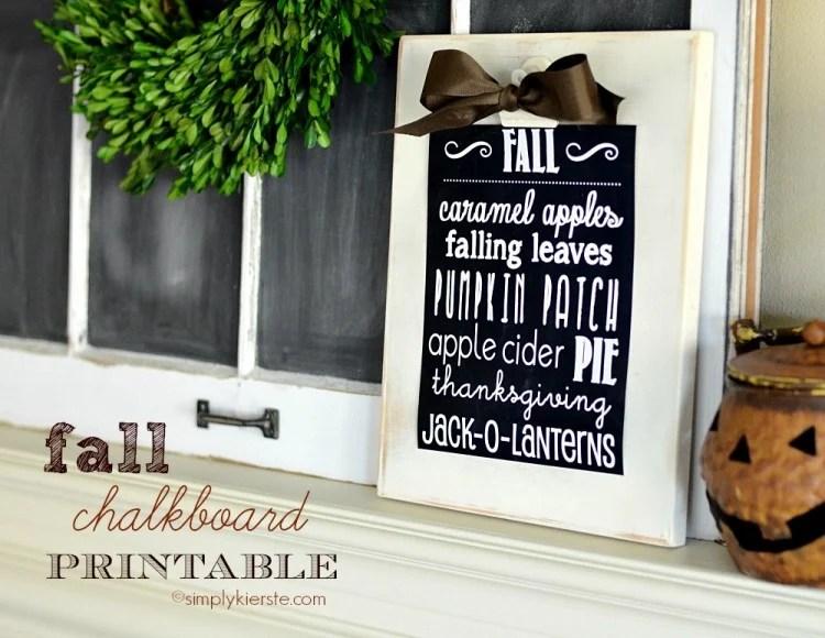 fall chalkboard printable | oldsaltfarm.com
