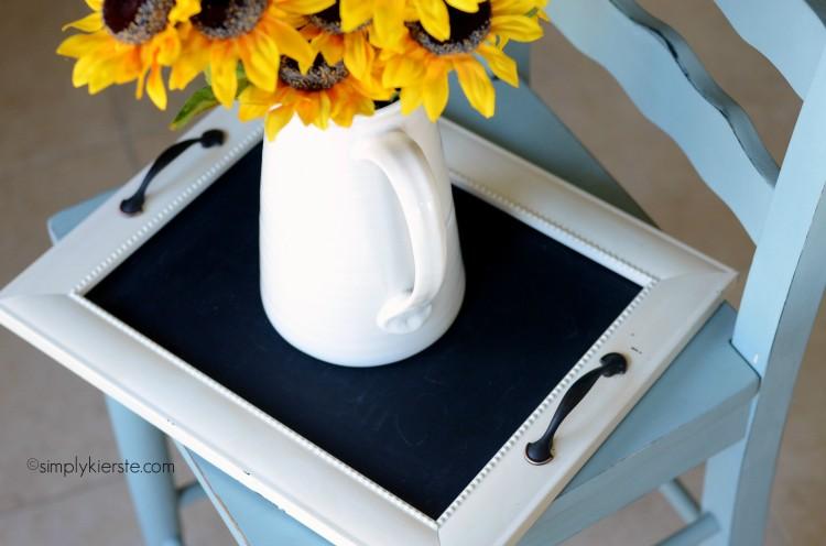 turn a frame into a tray | oldsaltfarm.com