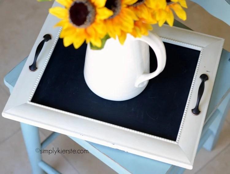 turning a frame into a tray | oldsaltfarm.com