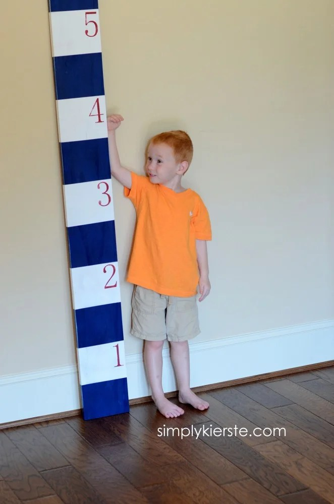 striped growth chart frog tape | oldsaltfarm.com