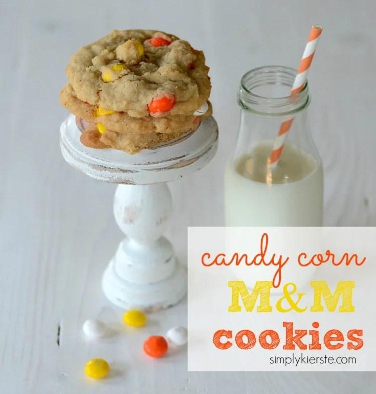 candy corn M&M cookies   oldsaltfarm.com