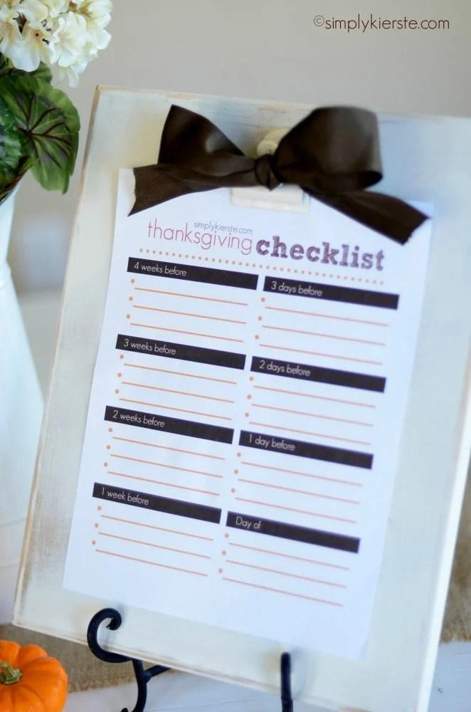 thanksgiving checklist | oldsaltfarm.com
